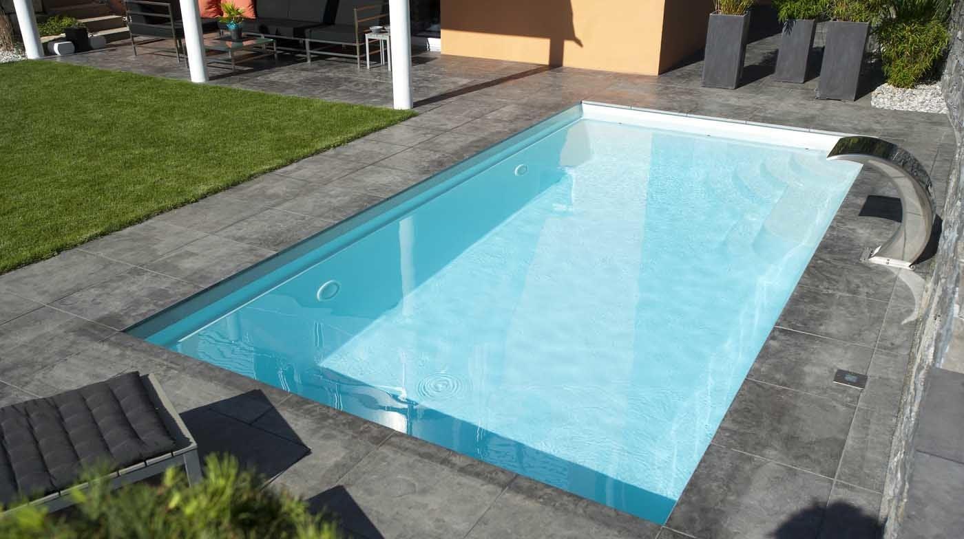stahl pool rechteckig schwimmbad und saunen. Black Bedroom Furniture Sets. Home Design Ideas