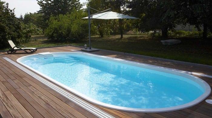 Modell adria 85 schwimmbecken von polyfaser pools - Pool mit stahlrahmen ...