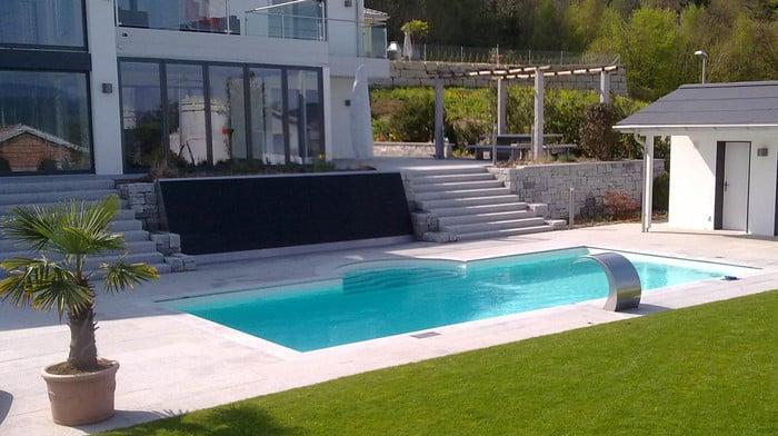 Piscine con skimmer polyfaser alto adige piscine in for Skimmer per piscine