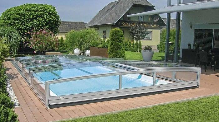pooldach opal schwimmbecken von polyfaser pools pooldach. Black Bedroom Furniture Sets. Home Design Ideas